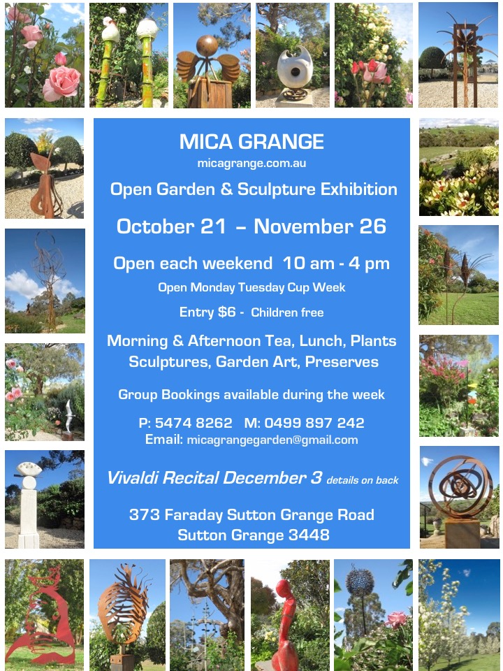 Mica Grange Spring Open Gardern & Sculpture Exhibition